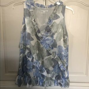 Banana Republic Floral Silk Top M